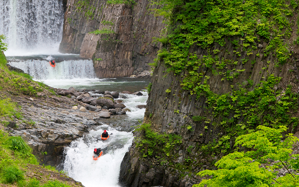 Waterfall Riverboarder Seqence, Japan